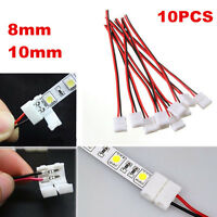10 x 2 Pin PCB Connector Cable Adapter for RGB 3528 5050 LED Strip Light Useful