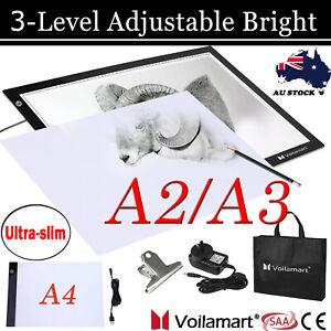 A2/A3/A4 LED Tracing Light Box Drawing Board Art Design Paint Copy Pad AU Plug