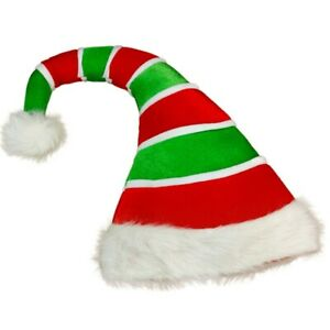 Christmas Hat Plush Elf Santa Hat Ornament Decoration Christmas Cap Turkey  X1U6