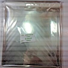 """100 Clear Cello Bags 6 1/2"""" Square, Resealable Flap"""