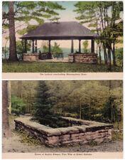 2 - ALBERT GALLATIN HOME New Geneva PENNSYVLANIA - c1930 POSTCARDS Hand-Colored