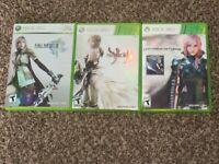 Final Fantasy 3 RPG Lot XIII XIII-2 Lightning Returns Xbox 360 100% Complete Lot