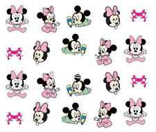 Nail Art Water Decals Transfer Stickers Baby Minnie & Mickey Mouse (A-366)