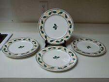 Retroneu Stoneware Golden Holly Set of 5 Dinner Plates 10 1/2 Inch