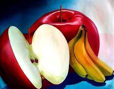 APPLE Cuba Original Art Painting Canvas YOANDRIS PEREZ BATISTA
