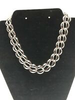 Vintage *Signed* NAPIER Silver Tone Choker Necklace STUNNING BOLD CHUNKY