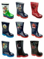 BOYS OFFICIAL CHARACTER WELLIES WELLINGTON RAIN SNOW WELLY BOOTS KIDS SIZE 4-1