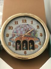 LINDEN Maestro Animated Musical Wall Clock Circus Theme Vintage Brand New in Box