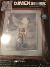 """Dimensions Counted Cross Stitch Dove Of Peace Jesus 11"""" X 14"""" Kit NIP"""