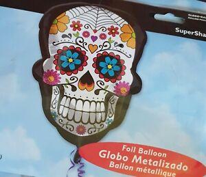 ' Totenkopf ' SKULL BALLON HELIUMBALLON FOLIENBALLON GEBURTSTAG PARTY 60 cm