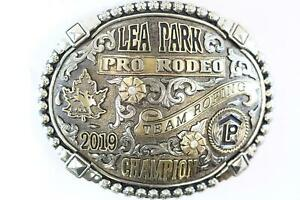 2019 Lea Park Pro Rodeo Team Roping Champion Belt Buckle