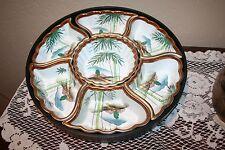 Vintage Fujita Kutani 7 Piece Lazy Susan Ornate Porcelain Sweet Meat Set