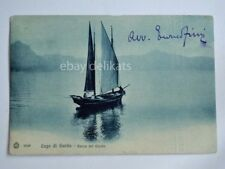 LAGO DI GARDA barca vela Brescia vecchia cartolina 2546
