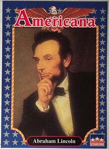 FUN EDUCATIONAL FACTS 1992 Americana Mint Cond. Trading Card ABRAHAM LINCOLN #2