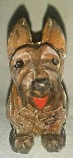 Cairn Scottish Terrier Scottie Carved Wood Dog Figurine