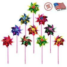 20Pcs Plastic Windmill Pinwheel Wind Spinners Lawn Garden Party Decor Kids Toys