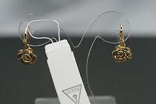 GUESS Damen Ohrringe UBE21514 Ohrhänger  Besatz weiß gelbgold vergoldet edel NEU
