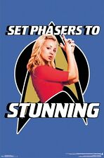 THE BIG BANG THEORY ~ PENNY SET PHASERS TO STUNNING 22x34 TV POSTER Kaley Cuoco