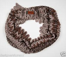 MISSONI Wool ZigZag Infinity Scarf in Brown SC38WMD3333  0001