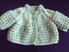 Premature/ Small Baby Matinee Jacket Cardigan Knitting Pattern