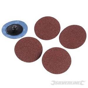 EN STOCK - Kit 5 disques abrasifs à changement rapide 50 mm - Grain 80