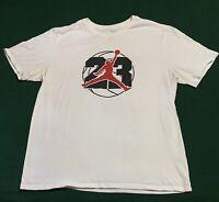Nike Air Jordan Mens XL Shirt The Goat #23 Jumpman Logo White Black Red!