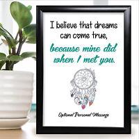 Personalised Gift For Girlfriend Boyfriend Anniversary Card Him Her Wife Husband