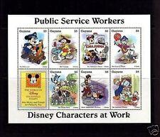 Guyana - 1996 - Disney - Mickey - Public Service Workers - Mint Sheet!