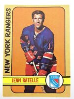 1972-73  Jean Ratelle New York Rangers 12 OPC O-Pee-Chee Hockey Card N904
