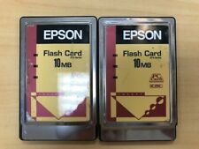 Set of two 10MB Epson Flash Card ATA Series PC Card