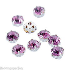 50 Violett Preciosa Strass Nähen Glaskristall für Tasche Strasssteine 4x4mm
