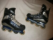MISSION RL ROLLER BLADES INLINE HOCKEY SKATES ADULT SIZE 12 D NICE CONDITION