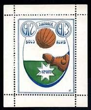 Denmark Poster Stamp - Football - Bold Klub Sport 1912-1913 Mini-Sheet of 1