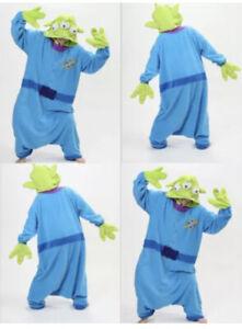 Sleepwear Fancy Dress Costume Toy Story Aliens cosplay Onesie10 Adult Small