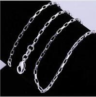 Glieder Halskette versilbert 45 50 55 60 cm  925 silber Schmuck Mode