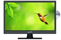 """SUPERSONIC 13"""" Inch LED PORTABLE HD TV HDTV DVD TELEVISION COMBO 12V VOLT AC/DC"""