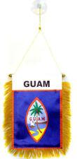 Guam Mini Banner Flag Car & Home Window Mirror Hanging 2 Sided