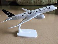 20Cm Solid Star Alliance Boeing 787 Passenger Airplane Plane Metal Diecast Model