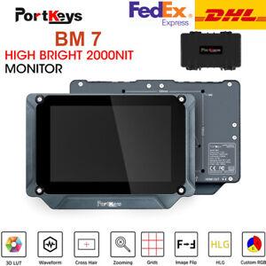 PortKeys BM7 7 inch Super Bright LUT 2000nit HDMI/3G-SDI On-Camera Field Monitor