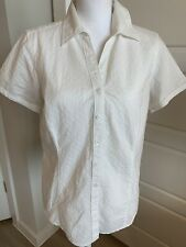 Columbia Womens White Short Sleeve Shirt Blouse Size Medium