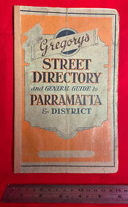 Gregory's Street Directory and General Guide to Parramatta, c. 1943, vintage Aus