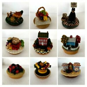 ASSORTED CANDLE TOPPERS  FOR MEDIUM AND LARGE CANDLE JARS - YOU CHOOSE