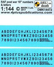 "Mark I Decals 1/144 BRITISH RAF POST WAR 18"" BLACK LETTERS & NUMBERS"