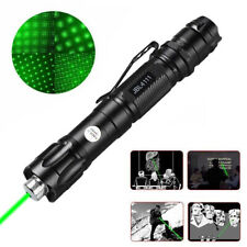 Tactical Range 532nm Green Laser Pointer Pen Zoom Visible Beam Light+Star Cap Us
