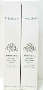 Crabtree & Evelyn Anti-Aging Hand Therapy, EVELYN ROSE 2.5 oz/70 g, NEW x 2