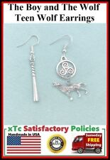 The Boy and The Wolf Handcrafted Fandom Silver Dangle Earrings.