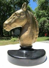 Antique BRASS Equestrian HORSE HEAD Bust DOORSTOP Cast Solid Brass 19.5 lbs