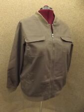 Roaman's NEW Womens Plus Sz 20W Sporty Brown Denim Bomber Jacket Spring Summer