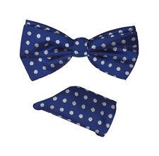 Men's Polka Dot Bow Tie w/ Handkerchief Set Hand Made 7 Colors BT-1