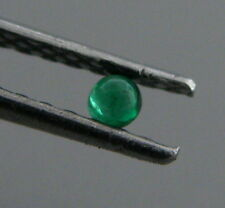3mm ROUND CABOCHON NATURAL UNTREATED COLOMBIAN EMERALD PERFECT GREEN